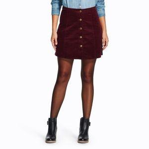 Xhilaration Plum Corduroy Skirt